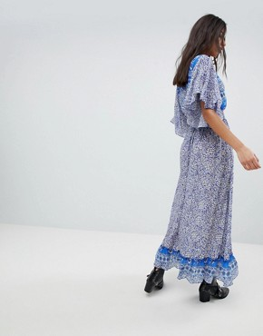 photo Printed Marlowe Maxi Dress by Lily and Lionel, color Santorini Print - Image 2