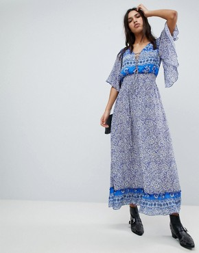 photo Printed Marlowe Maxi Dress by Lily and Lionel, color Santorini Print - Image 1
