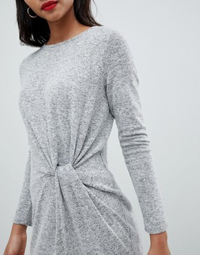 photo Twist Front Knitted Dress by Esprit, color Grey - Image 3