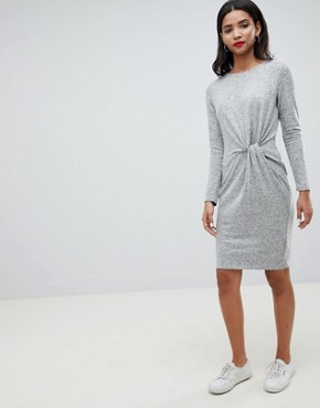 photo Twist Front Knitted Dress by Esprit, color Grey - Image 4