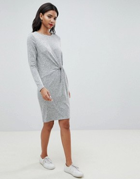 photo Twist Front Knitted Dress by Esprit, color Grey - Image 1