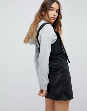 photo Stripe Pinafore by Pull&Bear, color Black - Image 2