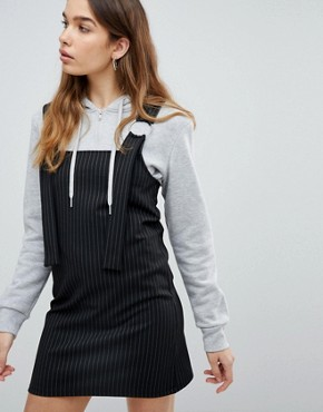 photo Stripe Pinafore by Pull&Bear, color Black - Image 1
