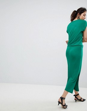 photo Waist Tie Dress by b.Young, color Verdant - Image 2