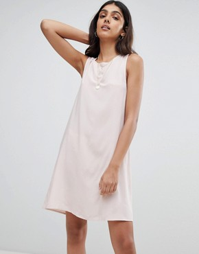 photo Sleeveless Shift Dress with Tie Back by Glamorous Tall, color Pink - Image 2