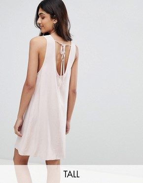 photo Sleeveless Shift Dress with Tie Back by Glamorous Tall, color Pink - Image 1