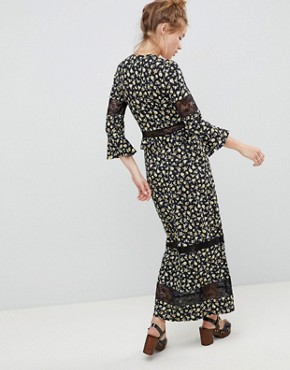 photo Maxi Tea Dress in Floral Print with Lace Inserts by ASOS DESIGN, color Floral Print - Image 2