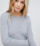 photo Knitted Jumper Dress by Bershka, color Grey - Image 3