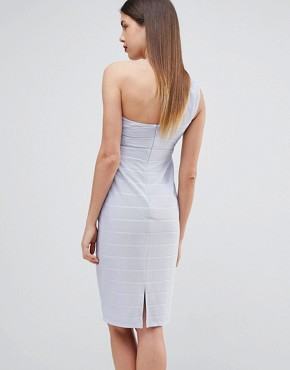 photo Maternity One Shoulder Bandage Midi Bodycon Dress by ASOS DESIGN, color Baby Blue - Image 2