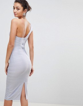 photo One Shoulder Bandage Midi Bodycon Dress by ASOS TALL, color Baby Blue - Image 2