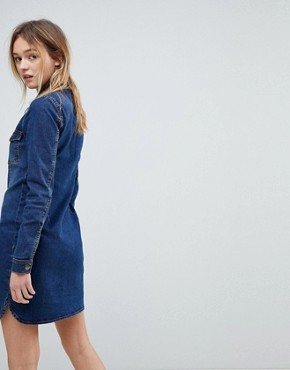 photo Denim Shirt Dress by JDY, color Medium Blue Denim - Image 2