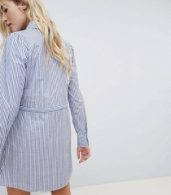 photo Striped Belted Shirt Dress by JDY, color Multi - Image 2