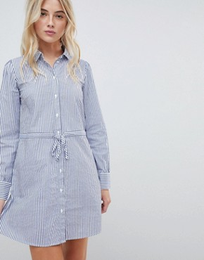 photo Striped Belted Shirt Dress by JDY, color Multi - Image 1