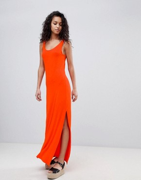 photo Jersey Maxi Dress by Vila, color Orange - Image 1