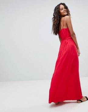 photo Wrap Maxi Dress by ASOS DESIGN Tall, color Red - Image 2
