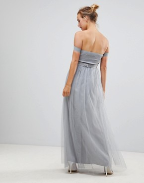 photo Jewel Waist Maxi Dress by Little Mistress, color Waterlily - Image 2