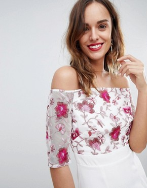 photo Half Sleeve Midi Dress with Embroidered Lace Upper by Little Mistress, color Print - Image 3