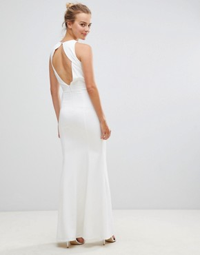 photo Maxi Dress with Embellished Detail by Little Mistress, color Cream - Image 2