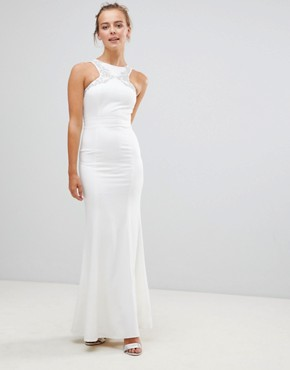 photo Maxi Dress with Embellished Detail by Little Mistress, color Cream - Image 1