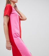photo T-Shirt Maxi Dress in Colour Block by ASOS TALL ULTIMATE, color Multi - Image 3