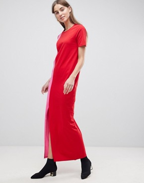 photo T-Shirt Maxi Dress in Colour Block by ASOS TALL ULTIMATE, color Multi - Image 4