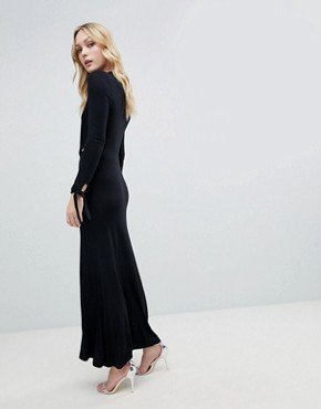 photo Maxi Dress with Long Sleeve and Cut Outs by ASOS DESIGN Tall, color Black - Image 2