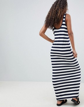 photo Ultimate Maxi Vest Dress in Stripe by ASOS DESIGN Tall, color Navy/White - Image 2