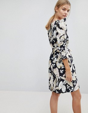photo Floral Mini Dress by MAX&Co, color Black - Image 2