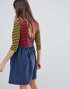 photo Cut About Stripe Mini Smock Dress by ASOS Maternity, color Multi - Image 2