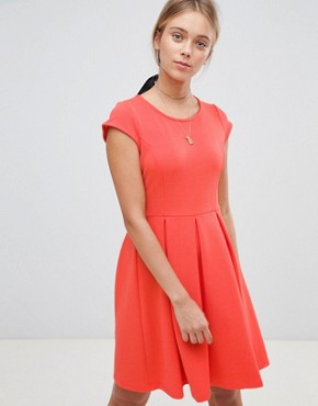 photo Skater Dress by Gilli, color Coral - Image 1