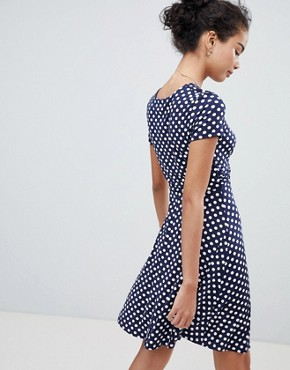 photo Polka Dot Skater Dress by Gilli, color Navy - Image 2
