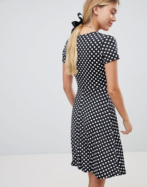 photo Polka Dot Skater Dress by Gilli, color Black - Image 2
