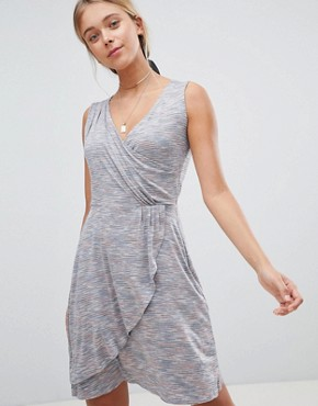 photo Drape Front Midi Dress by Gilli, color Grey - Image 1