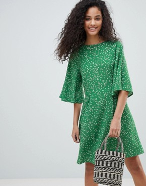 photo Tea Dress in Antique Floral by Nobody's Child, color Green - Image 1