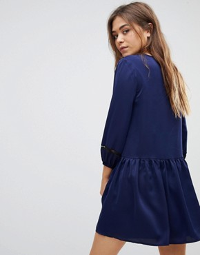 photo Smock Dress by After Market, color Navy/Black - Image 2