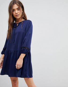 photo Smock Dress by After Market, color Navy/Black - Image 1