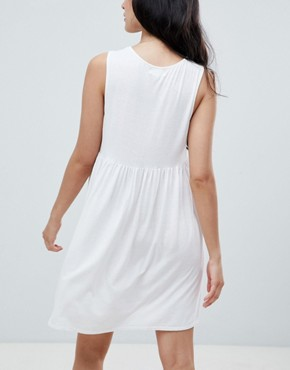 photo Chelsea Tie Front Dress by NYTT, color Off White - Image 2