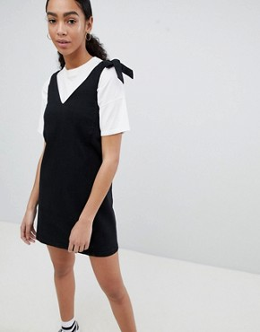 photo Denim Pinafore by Noisy May, color Black - Image 1