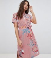 photo Floral Printed Shirt Dress by Noisy May, color Multi - Image 1