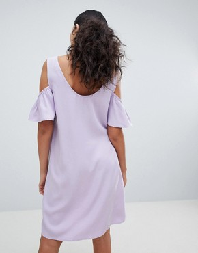 photo Cold Shoulder Shift Dress by Noisy May, color Pastel Lilac - Image 2