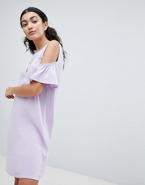 photo Cold Shoulder Shift Dress by Noisy May, color Pastel Lilac - Image 4