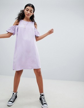 photo Cold Shoulder Shift Dress by Noisy May, color Pastel Lilac - Image 1