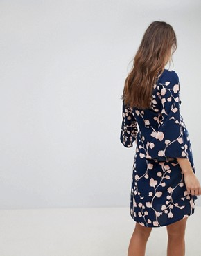 photo Floral Print Kimono Sleeve Dress by Mama.licious, color Multi - Image 2