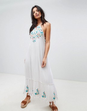 photo Ashlynn Embroidered Maxi Dress by Raga, color Eggshell - Image 1