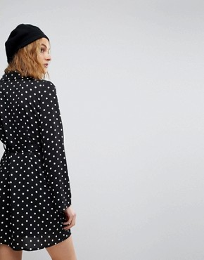 photo Polka Dot Tux Dress by Reclaimed Vintage Inspired, color Multi - Image 2