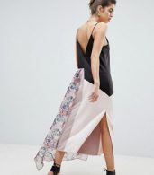 photo Satin Cami Dress with Floral Overlay by Reclaimed Vintage, color Multi - Image 2
