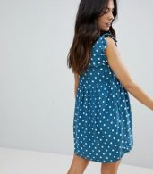 photo Sleeveless Tea Dress with Collar in Vintage Spot by Motel, color Blue Spot - Image 2