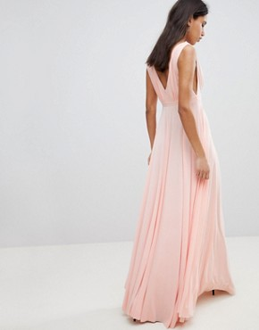 photo Maxi Dress with Extreme Pleated Detail by City Goddess, color Pink - Image 2