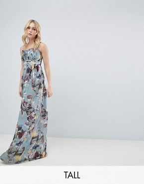 photo Maxi Dress in Floral Print by Little Mistress Tall, color Multi - Image 1