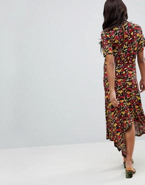 photo Maternity Tea Dress with Asymmetric Hem in Floral Print by ASOS DESIGN, color Multi - Image 2